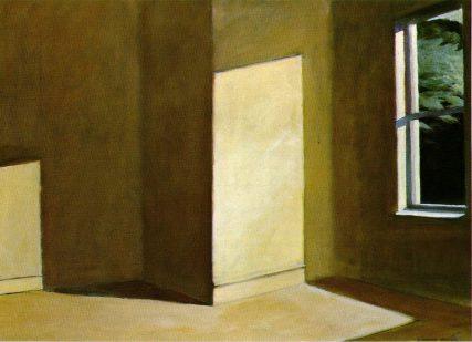 Hopper sun in empty room