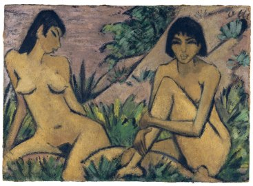 Otto-Müller-Two-Female-Nudes-in-a-Landscape-Two-Female-Nudes-in-a-Landscape