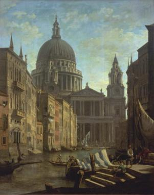 Capriccio: St Paul's and a Venetian Canal ?c.1795 by William Marlow 1740-1813