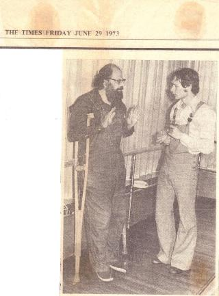 Allen Ginsberg and Anthony Howell Poetry International 73